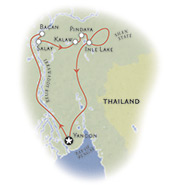 Myanmar walking map